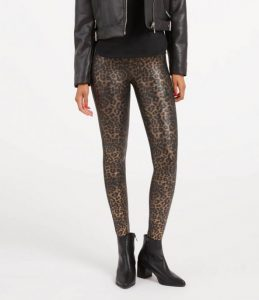 Leopard Faux Leather Leggings
