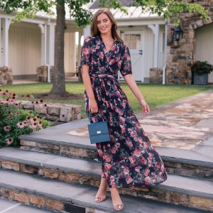 Colorful florals make this maxi a statement for everyday daytime dresses.