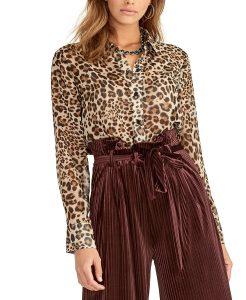 sheer leopard blouse macys