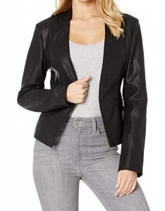 If you are on a budget this vegan leather blazer is a good option for investment clothing.