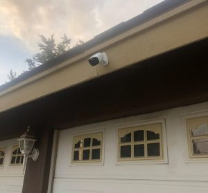 One of the installedPanasonic HomeHawk cameras