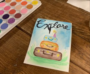 use watercolors to journal for how to make the most of your vacation