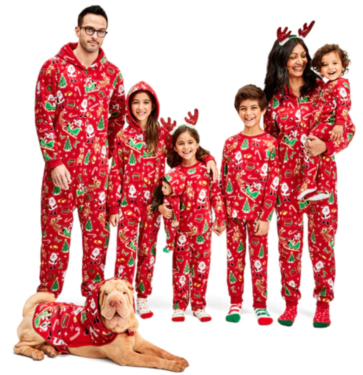 what to wear on christmas day: family pajamas