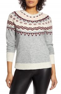 what to wear on thanksgiving: polished sweaters and dark jeans