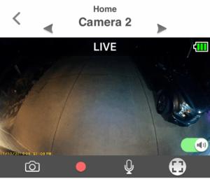 The Panasonic HomeHawk app