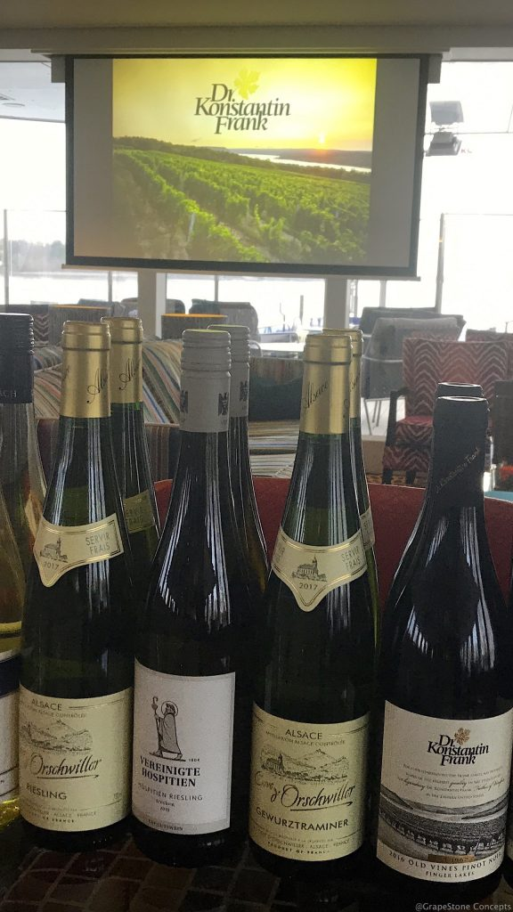 Dr. Franks wines on a wine-themed Rhine river cruise