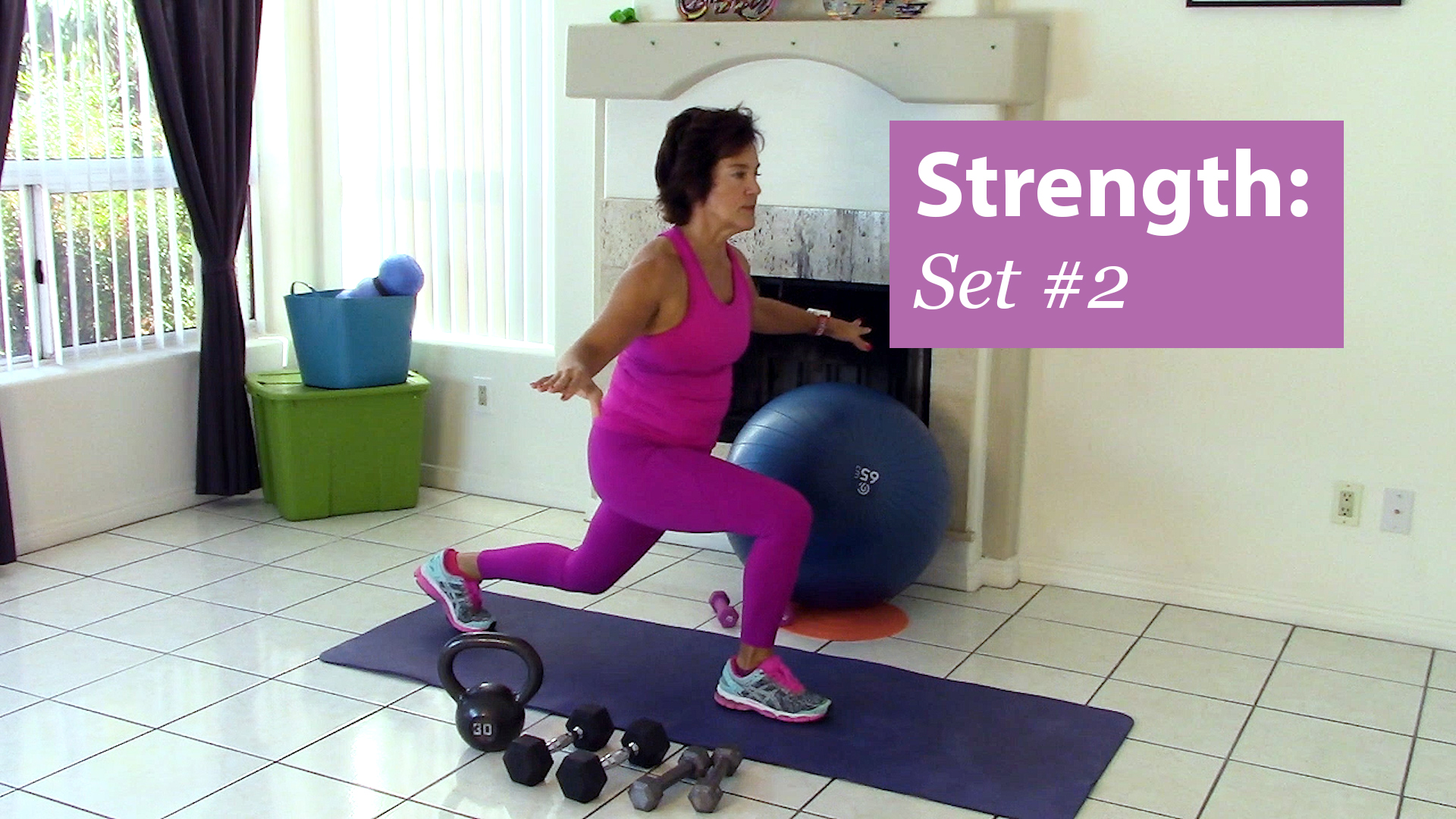 Debra Atkinson of Flipping 50 does another 5 minute Strength Training Workout for the Prime Women Fitness Challenge