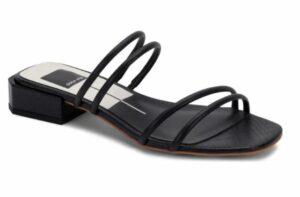 Dolce Vita Haize Strappy Slide Sandal in a summer black wardrobe