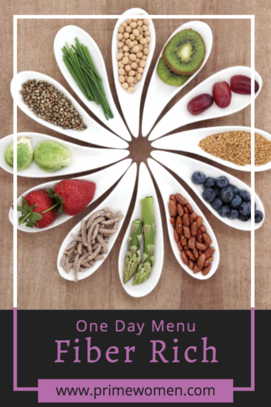 Fiber Rich One Day Menu