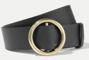 Frame Le Circle leather belt in a summer black wardrobe