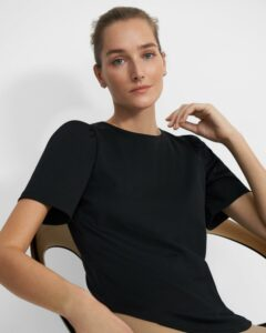 Theory Short-Sleeve Ruched Tee