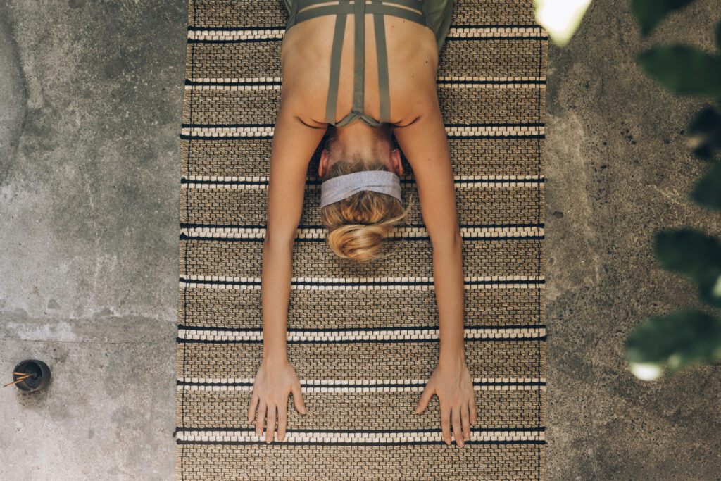 Yoga for back stretching