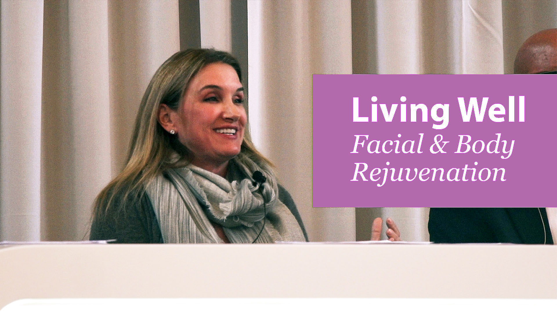 Emily McLaughlin at Living Well Event on Non-surgical and surgical cosmetic procedures
