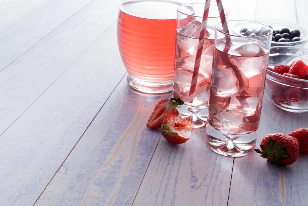 non alcoholic shrub cocktail