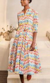 Kitty Midi Shirt Dress, $180