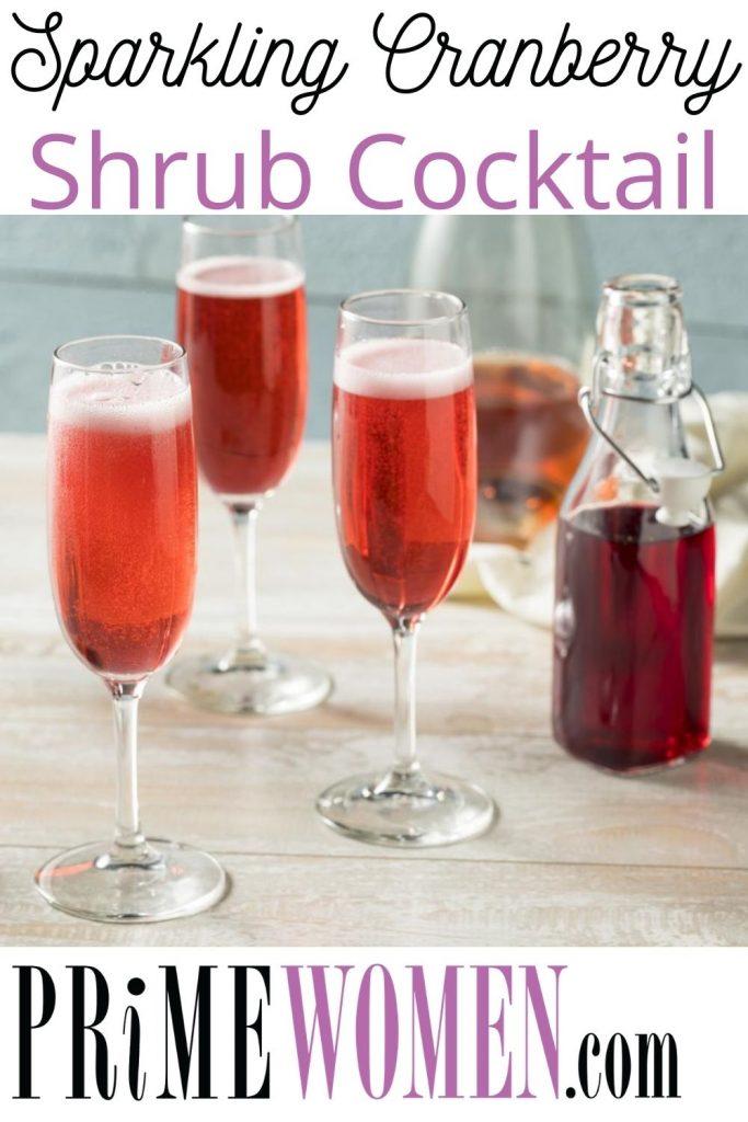 Sparkling Cranberry Shrub Cocktail Recipe
