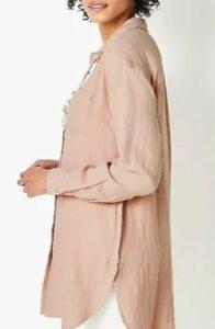 Pure Jill Cotton Double-Cloth Tunic