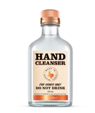 distillery hand sanitizer