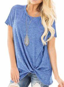 Twist Knot Solid Tunic T Shirts