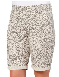 Ab-Solution Leopard Print Cuff Bermuda Shorts