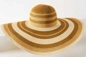 Anthropologie Sand-Striped Sun Hat