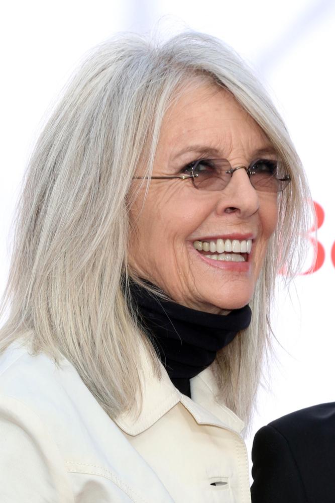 Diane Keaton grey hair