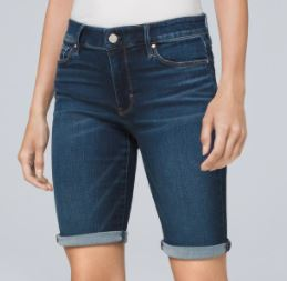 Everyday Soft Denim Mid Rise Bermuda Shorts