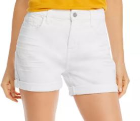 Roll-Hem Shorts in White