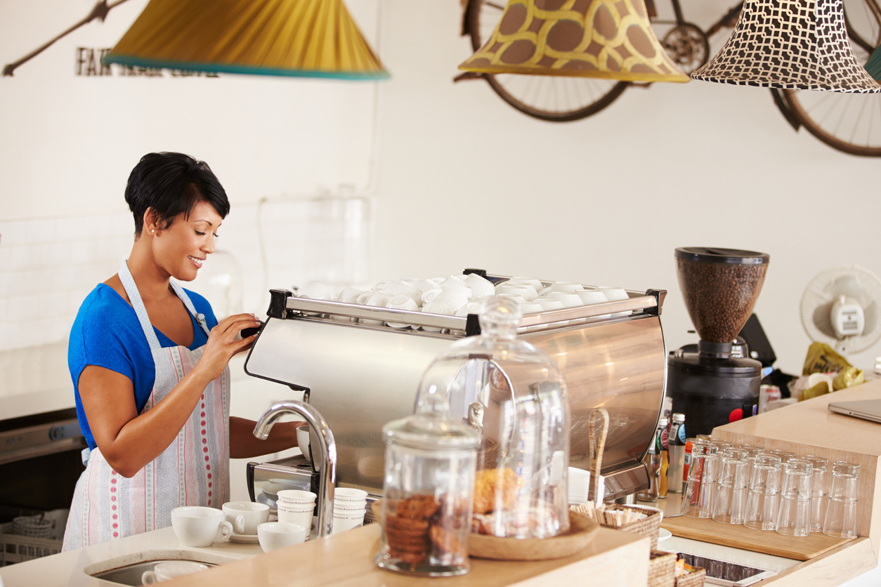Being a barista and making coffee can be a great flexible job for women over 50