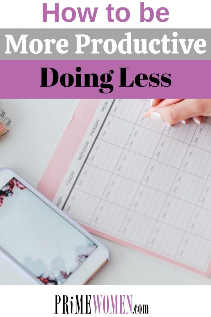 How to be more productive doing less