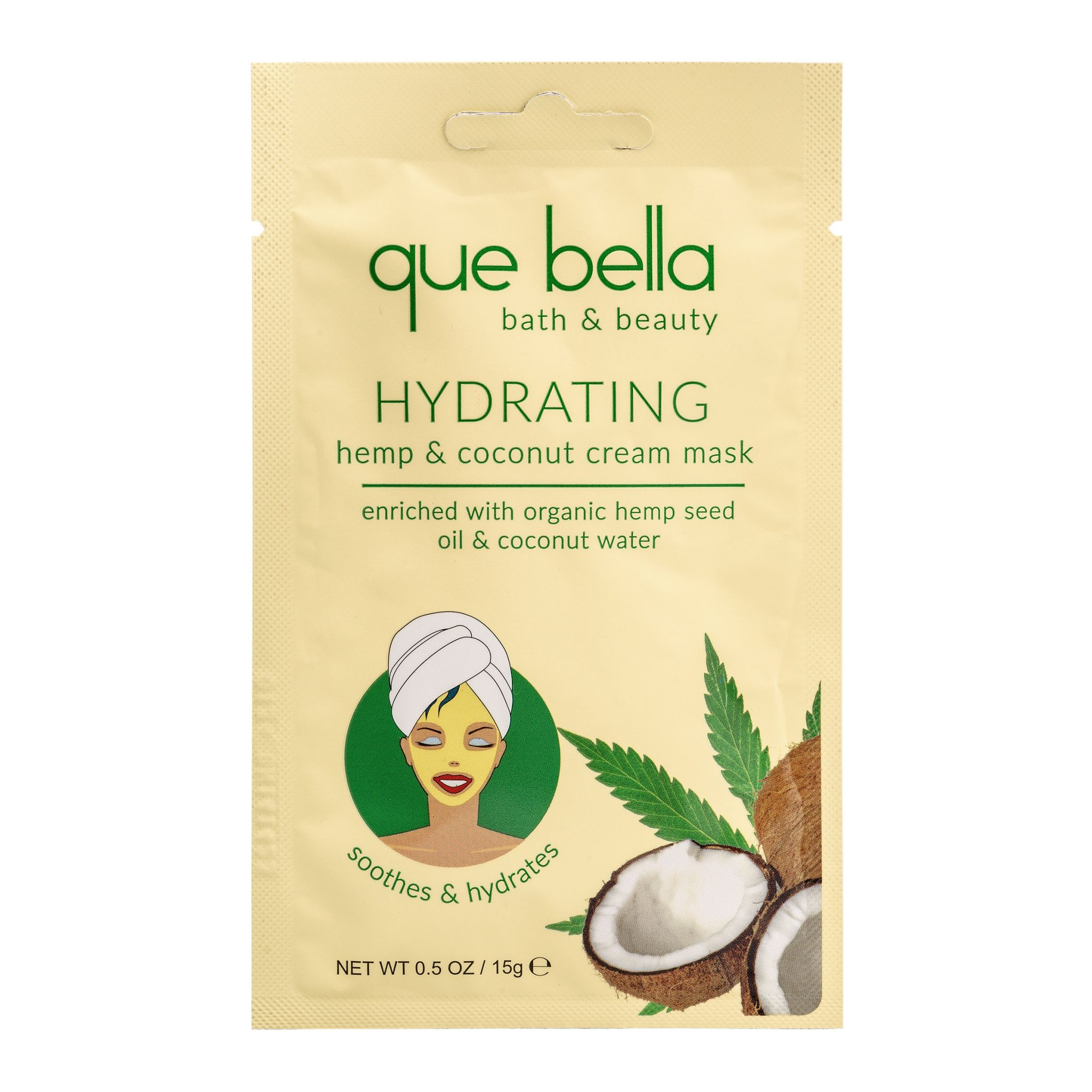 Que Bella Coconut Cream mask is a great Facial Masks For Dry Skin