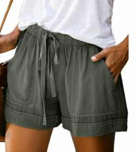 FEKOAFE Drawstring Casual Shorts