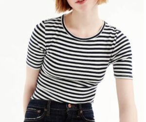 JCREW Slim perfect T-shirt in stripe