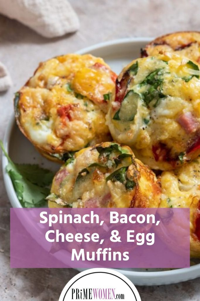Spinach, Bacon, Cheese, and Egg Muffin recipe