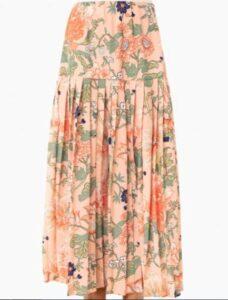 Tuckernuck Blush Floral Viola Pleat Skirt
