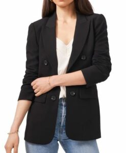 1.State Faux Double Breasted Blazer