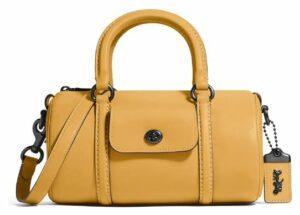 Coach Leather Barrel Bag