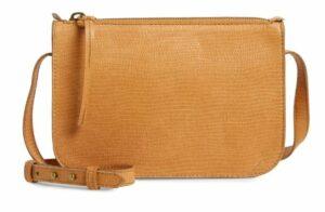 Madewell The Simple Lizard Embossed Leather Crossbody Bag