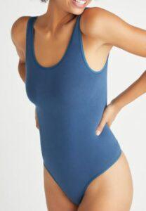 Ruby Cotton Shaping Thong Back Bodysuit