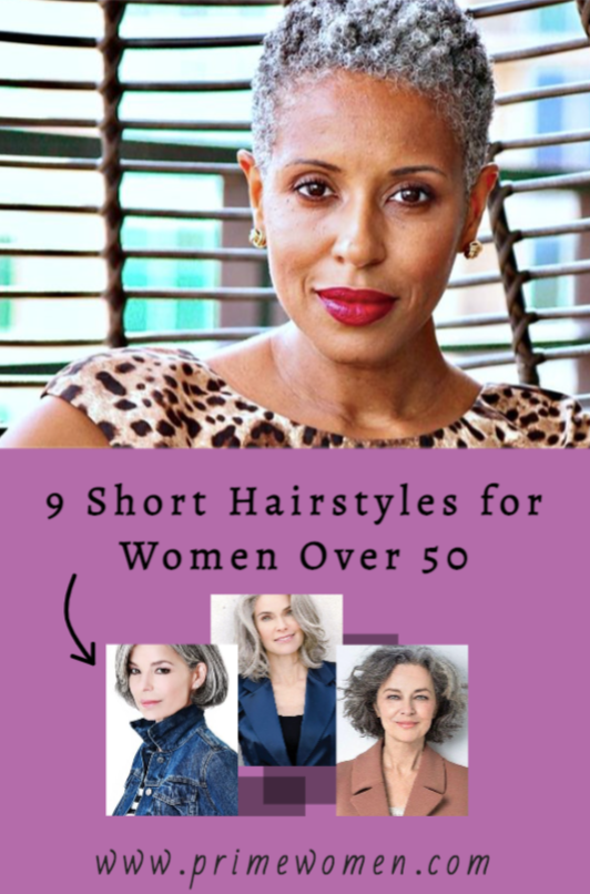 9 short hairstyles for women over 50