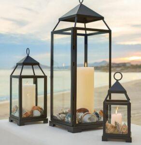 Malta Glass & Metal Indoor/Outdoor Lantern Collection
