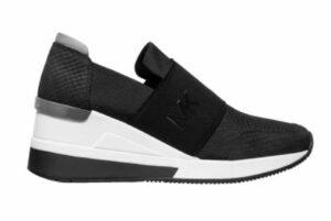 Michael Kors Felix Logo Leather Slip-On Sneakers