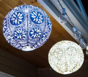 Boho Globe Solar Indoor/Outdoor Lantern