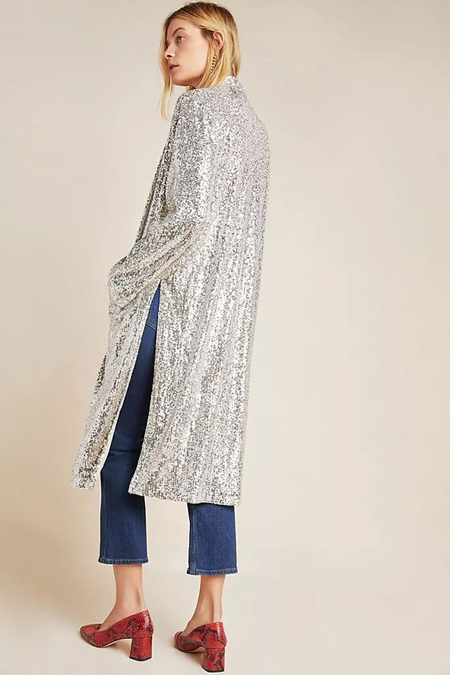 sequined duster jacket