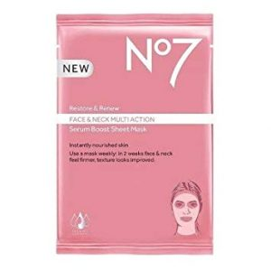 No7 Restore & Renew Face & Neck Multi Action Serum Boost Sheet Mask