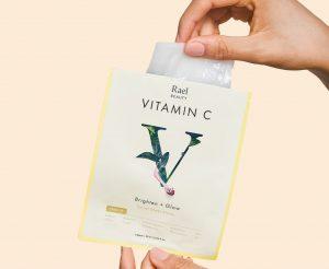 Rael Vitamin C Brighten + Glow Facial Sheet Masks