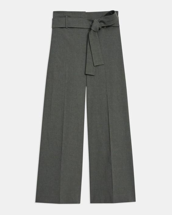 gray cropped pants
