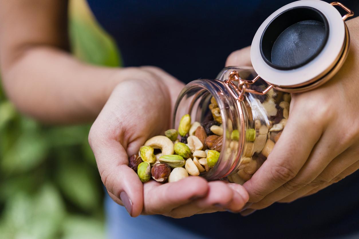 woman eating seeds