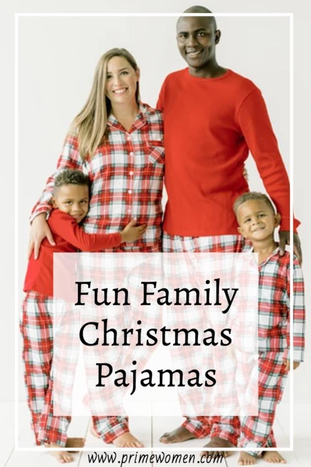 Fun Christmas pajamas for families
