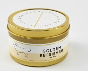 Golden Retriever Dog Breed Soy Candle in Large Tin and gifts for pets